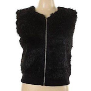 AIKO Faux Fur Black Vest XS
